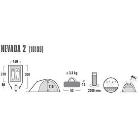 High Peak Nevada 2 - Tente - gris